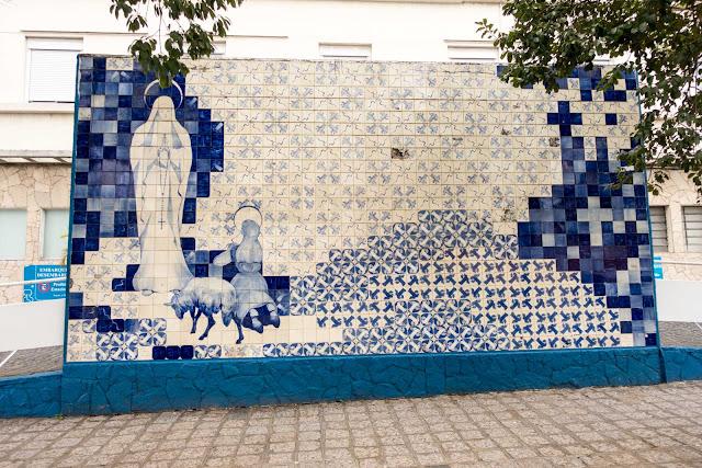 Mural na Maternidade Nossa Senhora de Fátima