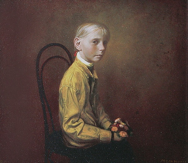 "arte contemporáneo, pinturas, ""Yellow Shirt"" by Igor Melnikov, 2003"