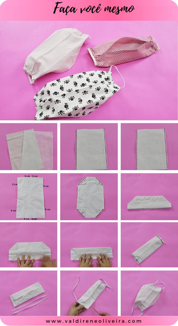como fazer mascara de tecido