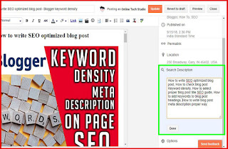 How to add Meta tags description to every single post, Step 2: add meta description to a blog post