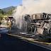 Muere un camionero que transportaba hortalizas atrapado en su vehículo en llamas tras salirse de la vía y volcar