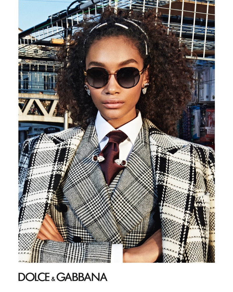 Nuri Son fronts Dolce & Gabbana accessories fall-winter 2019 campaign