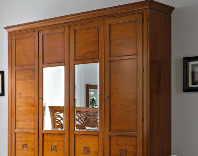 model lemari baju 3 pintu kayu jati