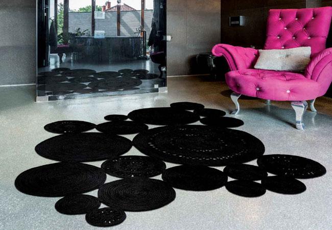 Καλοκαιρινό Ψάθινο Χαλί: Alyssa Patchwork Carpet Couture