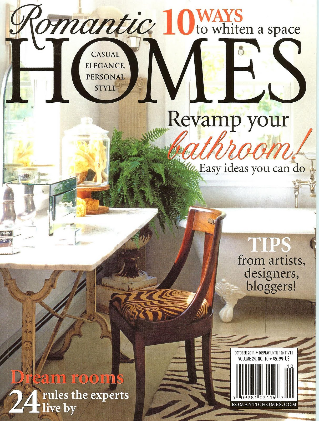 A romantic homes mag feature scotchblue winner decor for Decoration maison winners