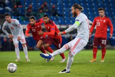 ملخص واهداف مباراة اسبانيا وسويسرا (1-1) دوري الامم الاوروبيه