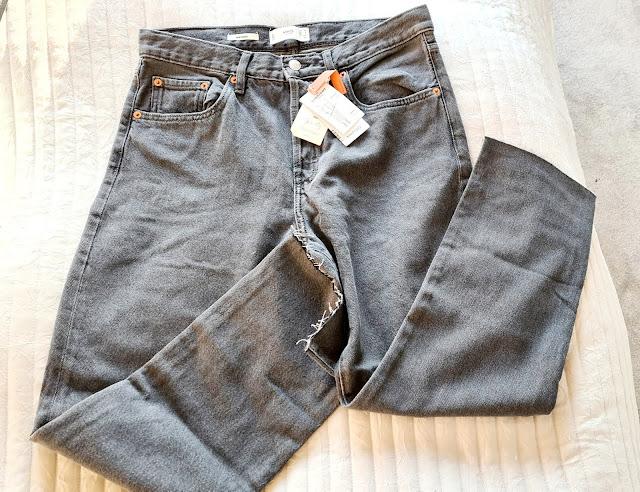 Mango Havana wide leg jeans