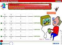 http://www3.gobiernodecanarias.org/medusa/eltanquematematico/todo_mate/fracciones_e/ejercicios/division_p.html
