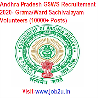 Andhra Pradesh GSWS Recruitement 2020, Grama/Ward Sachivalayam Volunteers (10000+ Posts)