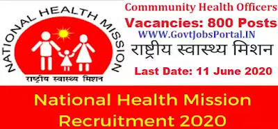National Health Mission Recruitment 2020
