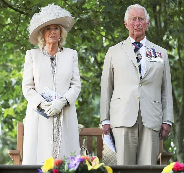 The Prince of Wales and The Duchess of Cornwall attended a national service of remembrance at the National Memorial Arboretum