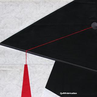 GRADUATION CAP-QUILT BLOCK-BLOCK PATTERN-EASY QUILT BLOCK-FOUNDATION PIECING
