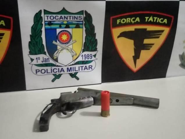 Força Tática da PM prende homem por porte ilegal de arma de fogo em Carrasco Bonito