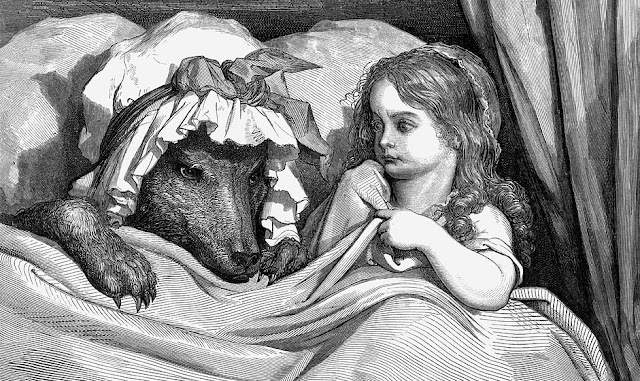 Gustave Dore's illustration of Little Red Riding Hood