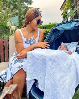 Regina Daniels Celebrates Her Son Munir