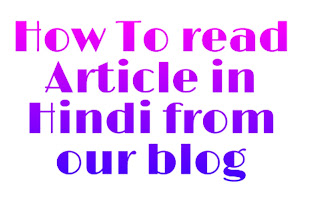 How to read article in hindi from our blog