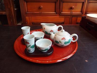 華泰茶荘 闘彩蓮花 工夫茶器セット 台湾茶器セット 中国茶器セット 12,000円