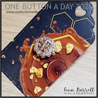 One Button a Day 2020 by Gina Barrett - Day 149 : Sterling
