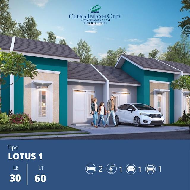 Cluster Bukit LOTUS Citra Indah City - Harga mulai 215 jt an