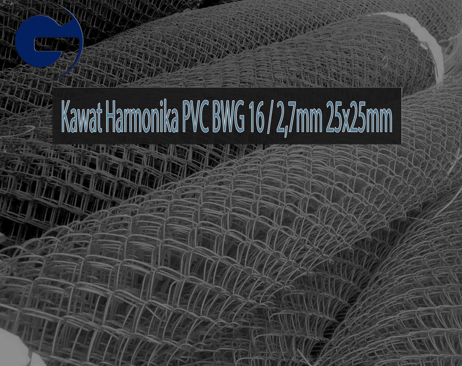 Jual Kawat Harmonika PVC SNI BWG 16/2,7mm 25x25mm