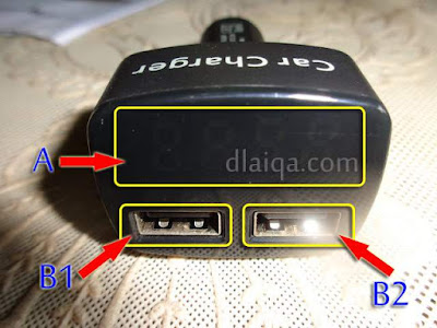 A = led display, B1-B2 = usb port