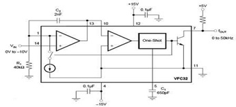 Negative Input Voltage Circuit using Voltage-to-Frequency Converter