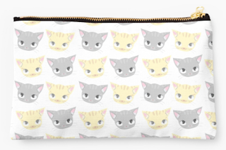 Cat Faces Redbubble Pouch