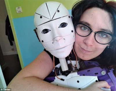 French woman in love with robot