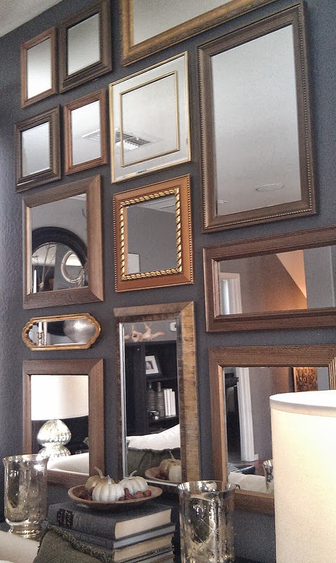 Focal Point Styling How To Create A Gold Mirror Gallery