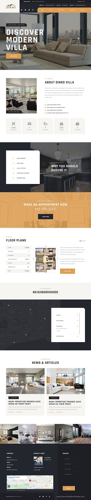 Perfect Single Property & Apartment WordPress Theme