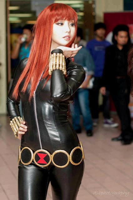 alodia gosiengfiao sexy black widow cosplay 02
