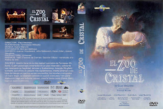 Carátula: El zoo de cristal (1987) The glass menagerie