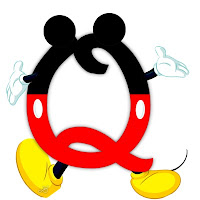 Original alfabeto inspirado en Mickey Mouse Q.