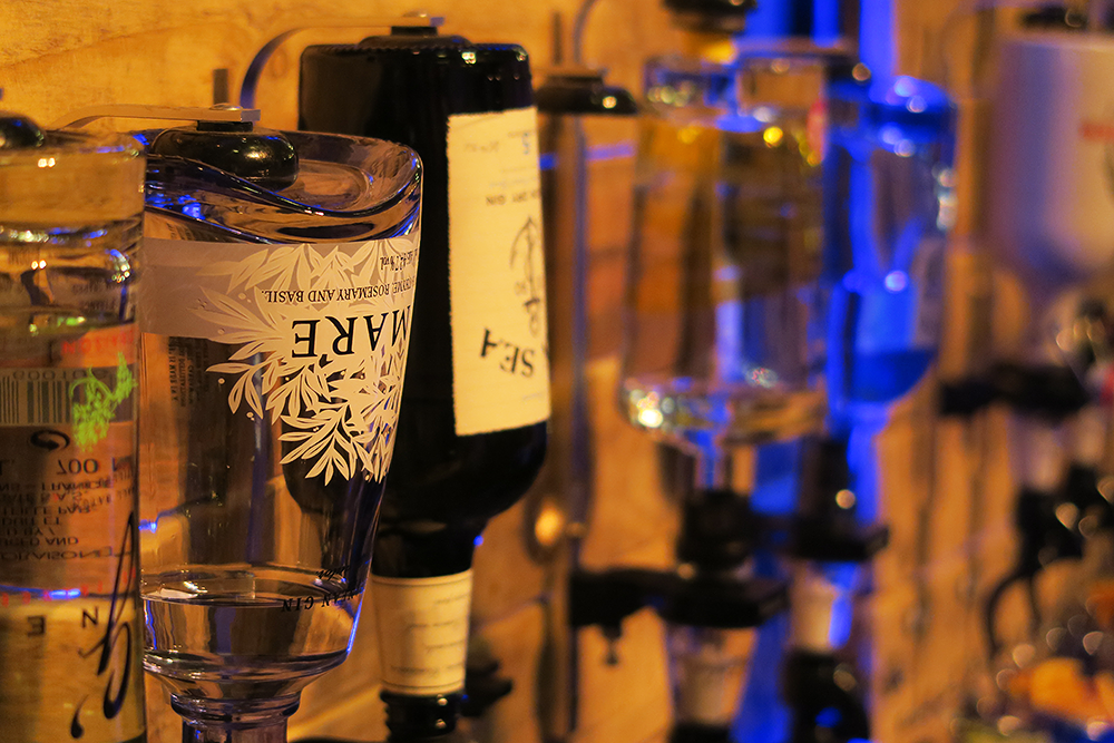Gin bottles at the Gin Festival Leeds 2016