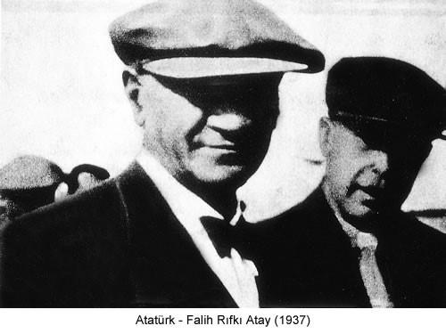 Atatürk Falih Rıfkı Atay 1937 Fotoğraf