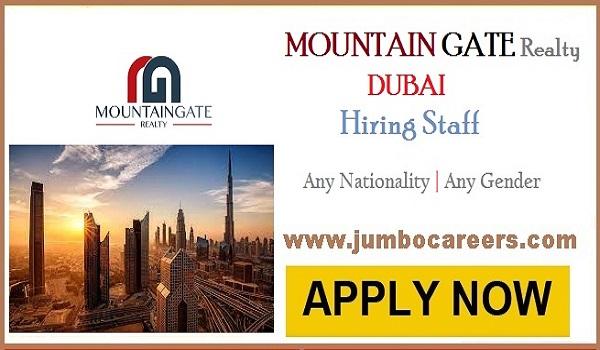 Latest Real Estate Company Jobs in Dubai Mountain Gate Reality