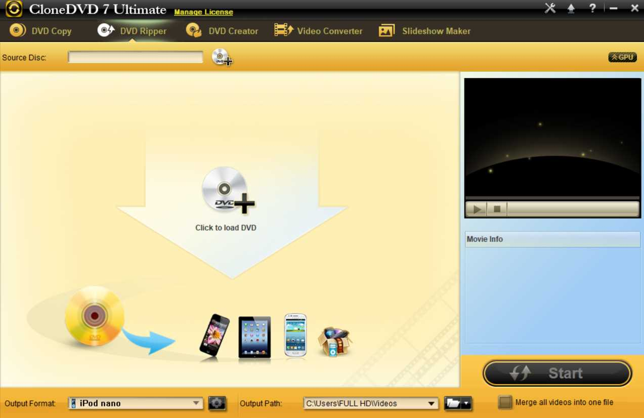 CloneDVD 7 Ultimate 7.0.2.1
