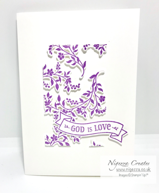 Nigezza Creates, Stampin Up, Cross of hope, Hold on to hope, floating frame card