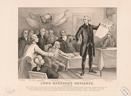 John Hancock's defiance: July 4th 1776 (1876)