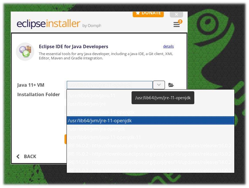 Διαδρομή Java 11+ VM