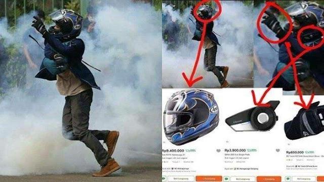 Anak Sultan Ikut Demo UU Cipta Kerja, Pakai Helm Seharga Motor, Lihat Pakaian Mahalnya