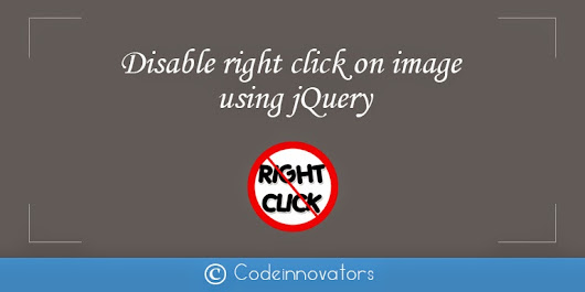 Disable right click on image using jQuery