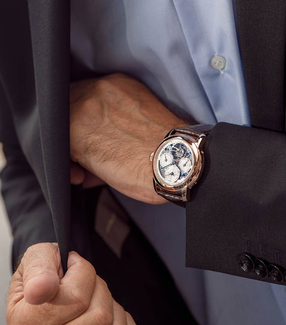 Frederique Constant Perpetual Calendar Tourbillon Manufacture on the wrist