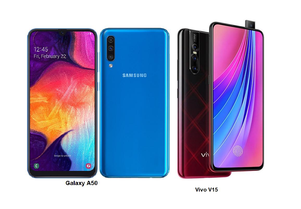 Vivo V15 Vs Samsung Galaxy A50 Specs Comparisons