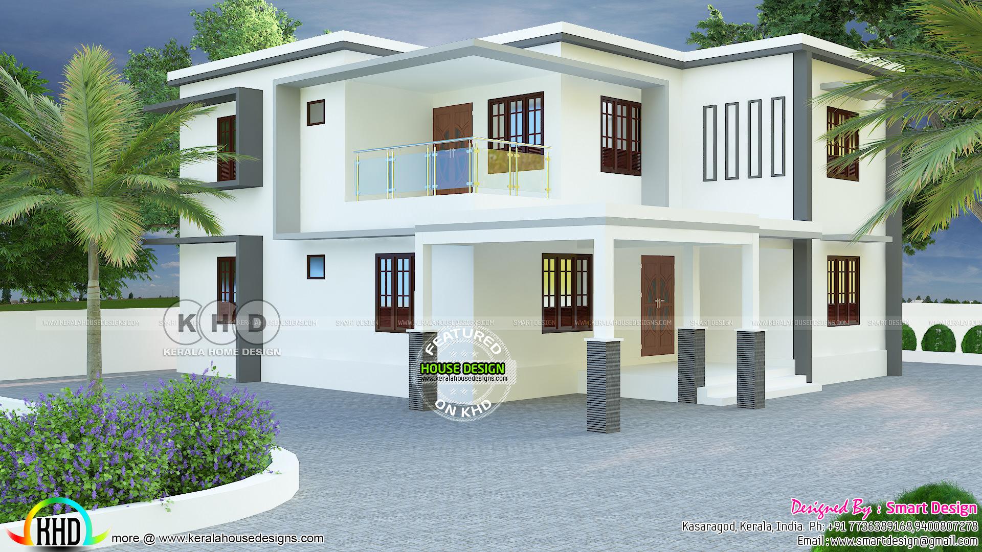 2466 Sq Ft True Flat Roof House Plan Kerala Home Design Bloglovin