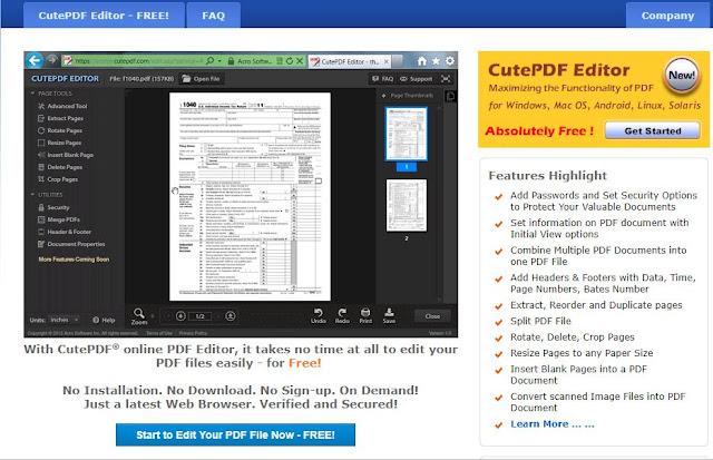 Cut PDF Editor