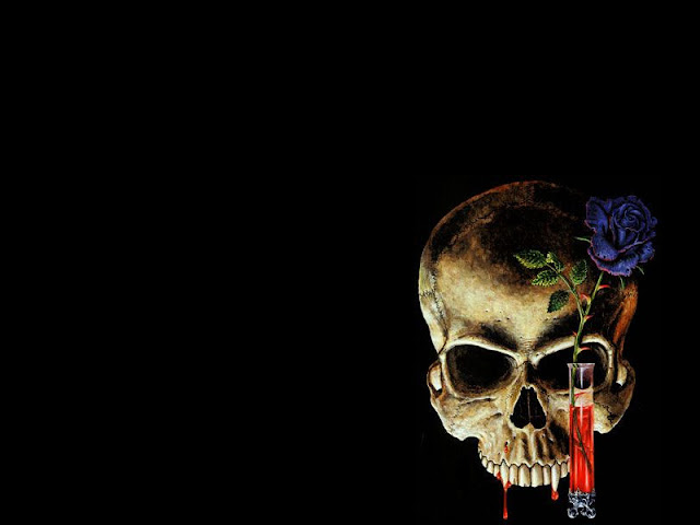 skull and roses wallpapers - photo #9