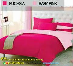 Sprei Custom Polos Dan Garis Polos Pink Fushia Mix Polos Pink Baby