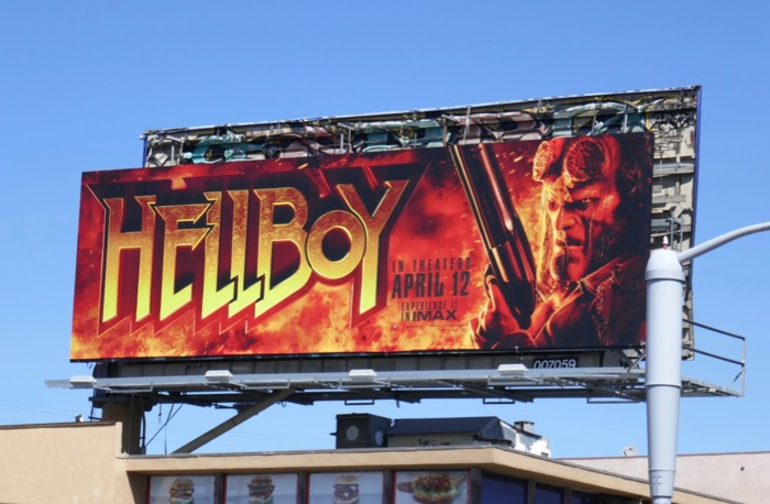 Hellboy movie remake billboard
