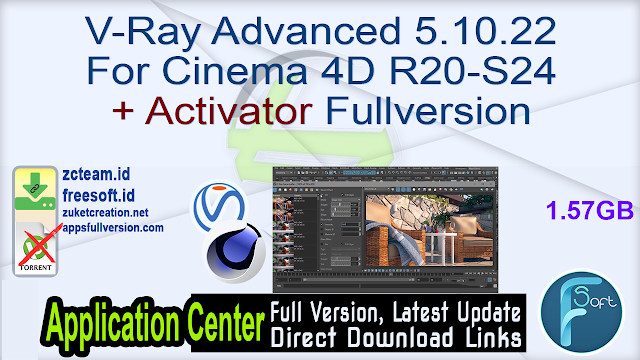 V-Ray Advanced 5.10.22 For Cinema 4D R20-S24 + Activator Fullversion